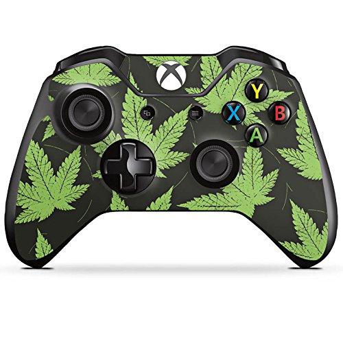 Microsoft XBox One Controller Folie Skin Sticker aus Vinyl-Folie Aufkleber Hanfblatt Weed Gras Green Vinyl Gras