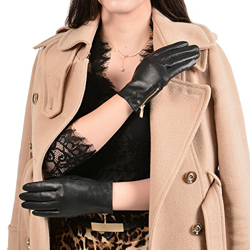 gsg-newest-ladies-perforated-goat-nappa-leather-driving-gloves-full-palm-touch-screen-with-side-zipp