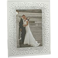 Wedding Mirror Glass Frame Starburst Crystals Design For 5x7 Pictures by Juliana