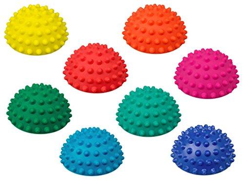 AFH-Webshop 8er-Set | Therapie Balance Igel Mini | Durchmesser: 9 cm | Gymnastik Igel | Igelball | Kleiner Balance Igel, ideal für Kinder