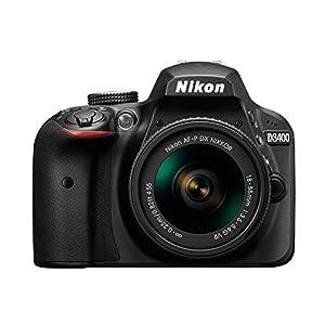 Nikon D3400 24.2MP Digital SLR (Black), AF-P DX NIKKOR 18-55mm f/3.5-5.6G VR Lens, AF-P DX NIKKOR 70-300mm f/4.5-6.3G ED VR Lens, 8GB Card, Camera Bag
