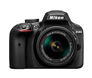 Nikon D3400 24.2MP Digital SLR (Black) + AF-P DX NIKKOR 18-55mm f/3.5-5.6G VR Lens + AF-P DX NIKKOR 70-300mm f/4.5-6.3G ED VR Lens + 8GB Memory Card + Camera Bag