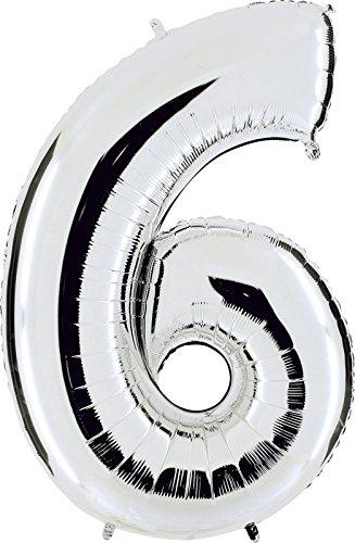 Grabo 096S-P Número 6 Superloon paquete único, longitud 40 pulgadas, color, plata, talla única