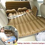 MEYLEE Auto-Aufblasbare Matratze-Reise-Kampierendes Luft-Bett-Universal-SUV Verlängerte Luft Couch Mit 2 Luftkissen - Brown