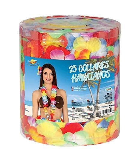 Guirca Hawaii Blumen Kette Großpackung Karneval Fasching Strand Party Aloha Zubehör Karibik Urlaub