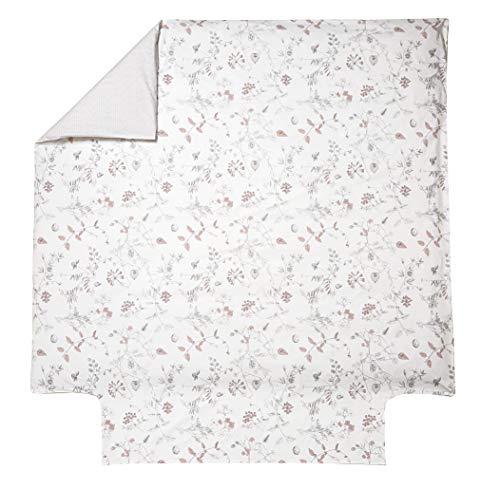 Blanc des Vosges Casse noisette Housse de Couette Coton Pétale 240 x 220 cm