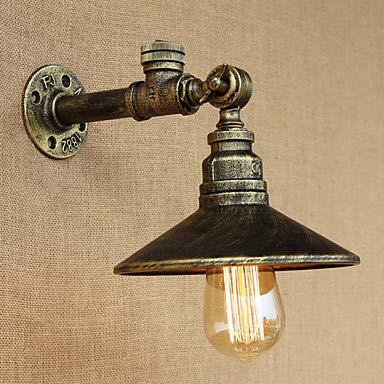 Eisen Rost Wasserpfeife Wandleuchte Wandleuchte mit Schalter Leuchte,Antique Bronze,220-240V - Antique Bronze Outdoor-wandleuchte