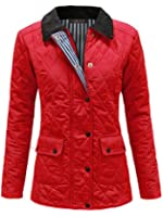 ENVY BOUTIQUE NEW WOMENS LADIES QUILTED PADDED BUTTON ZIP WINTER JACKET COAT TOP 8 10 12 14 16