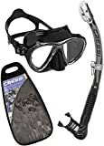 Cressi Big Eyes Evolution & Alpha Ultra Dry Professional Combo, Set per Immersioni e Snorkelling Unisex – Adulto, Nero