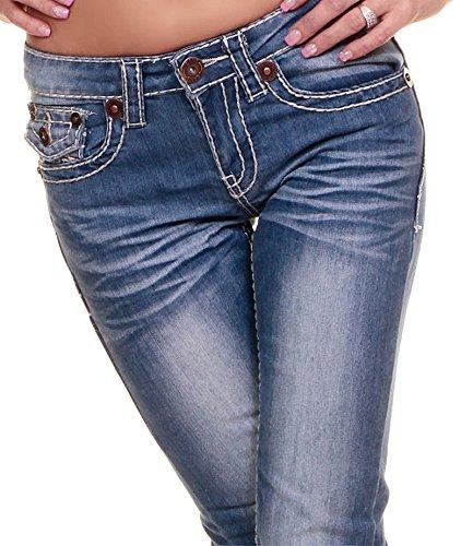 Jeans mit breiter Naht Designer Low Cut Jeans Five Poket