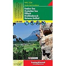 Freytag Berndt Wanderkarten, WK 224, Faaker See - Ossiacher See - Villach - Dreiländereck - Unteres Gailtal - Maßstab 1:50 000