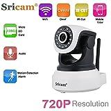 IP WiFi P2P Cámara Video Vigilancia y Vigila Bebés. IR Nocturna HD 720P 1,0 Megapixels con detección de movimientos. MarvTek con Micrófono y altavoz. Resolución HD (1280 * 720P) Con Rotación Horizontal de 355º y Vertical de 90º.