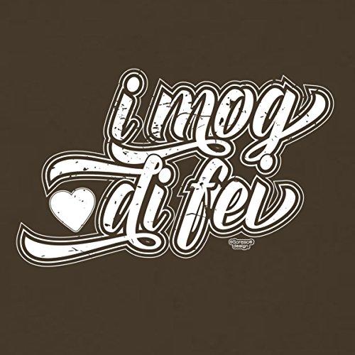 Romantische Valentinstag-Geschenkidee-T-Shirt-Männer I mog di fei Farbe: braun Braun