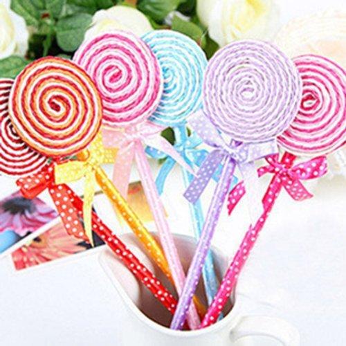 Lollipop Kugelschreiber Kurios Kinder Spielzeug Süße Schule Briefpapier Gife (Packung mit 5:...