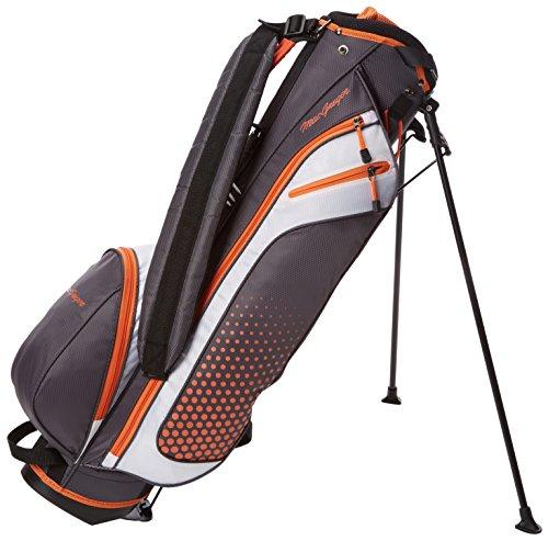Sac de golf MacGregor Heritage Plus avec support pour homme, Homme, Sac avec support, Heritage Plus, gris/orange