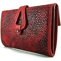 Cartera para mujer, hecho a mano en España, marca casanova, hecha en piel de vacuno, Ref. 21816 Rojo
