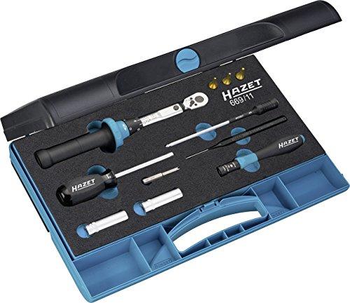 Preisvergleich Produktbild HAZET Werkzeug-Satz (für Reifendruck-Kontrollsysteme, mit Drehmomentschlüssel 5107-2CT und Drehmoment-Schraubendreher 6001-0.6/3, 11 Einzelteile) 669/11