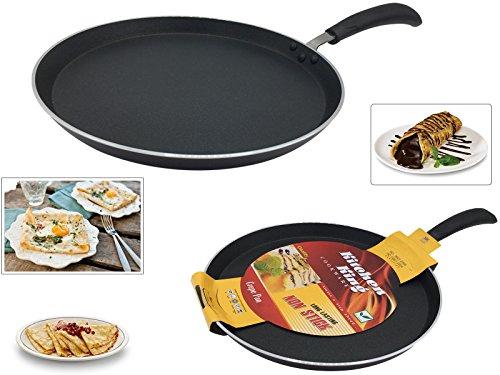 INDIAN DOSA FRIED PAN PANCAKE ROTI CHAPATTI TAWA HOT PLATE SKILLET PAN CREPE PAN COOKING NON STICK 24CM KITCHEN KING