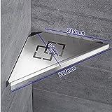 ZHIHUI 304 Edelstahl Gebürstet Dreieck Platte Korb Ecke Regal Rack Badezimmer Single Storey Wandbehang Lagerregal,A