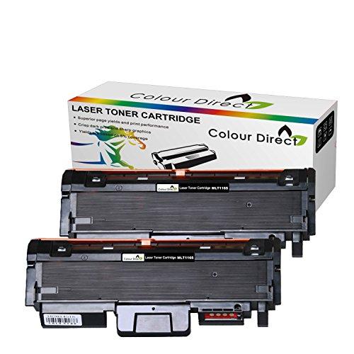 2 X Colour Direct MLT-D116L Schwarz Kompatibel Laser Toner Kartusches Ersatz für Samsung Xpress M2625, M2625D, M2675FN, M2825DW , M2825ND, M2875FD, M2875FW, M2885FW, SL-M2835DW Drucker . 3,000 Seiten ( at 5% Coverage )