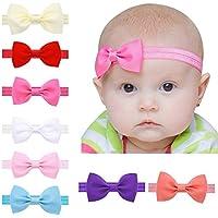 418b7db1014875 EROSPA® Stirnband mit Schleife für Baby Kleinkind Haarband elastisch  Bowknot Fotografie Taufe Geschenk Schmuck 8