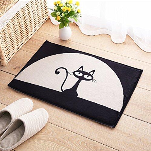 Fußmatte Fußabtreter Schmutzmatte Motiv Katze waschbar & witzig Schmutzfangmatte für Haustür Innen- und Außen Fußmatte Teppich 40x60 cm
