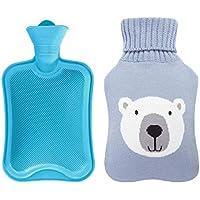 800ML Netter Bär Klassisch Gummi Kalt oder Heiße Wasserflasche mit Strickbezug - 1 preisvergleich bei billige-tabletten.eu