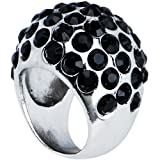 Size 8 Black Glam Cocktail Ring
