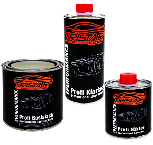 Preisvergleich Produktbild 1,25 Liter 2K Lack Set LANDROVER NCM DAVOS / CHAMONIX WHITE / IVORY WHITE 1984 - 1992 - Profi Autolack spritzfertig & Klarlack & Härter