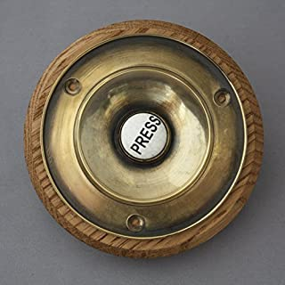 Large Victorian Brass Electric Bell Push