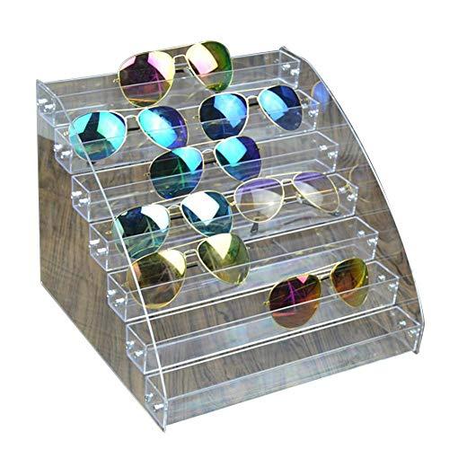 fllyingu Sonnenbrillenständer,Acryl Sonnenbrille Organizer Eyewear Aufbewahrungsbox Box Klar Brillen Vitrinenhalter multifunktional Brillendisplay