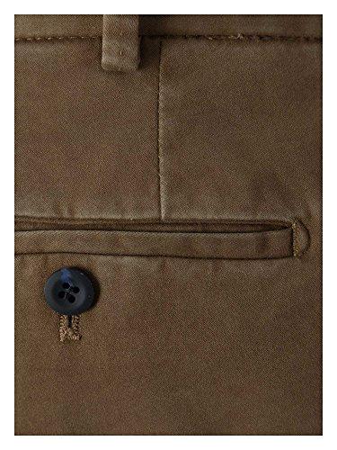Hiltl Messieurs Pantalon business Coupe moderne beige brun