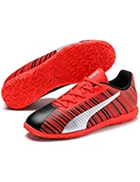 Puma Kids-Unisex ONE 5.4 IT Jr Black-Nrgy Red-P