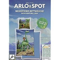 Arlo & Spot - Der BUENA DINOSAURIO - Cubierta de techo y almohada 135x200 cm