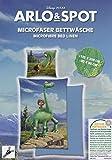 Arlo & Spot - Der Gute Dinosaurier - Deckenbezug und Kopfkissen 135x200 cm