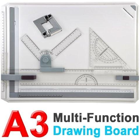 SODIAL(R) A3 Tablero de Dibujo con Movimiento Paralelo y Angulo Ajustable