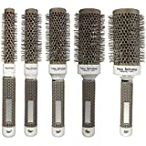KINGSO Hair Brush Ceramic Iron Round Comb Barber Dressing Salon Styling