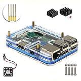 Kit Progetto per Raspberry Pi 3 (5 strati Custodia e Ventola Raffreddamento) (blu) immagine