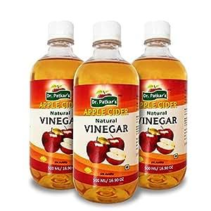 Dr.Patkar's Natural Apple Cider Vinegar(500 ML) (Pack of 3)