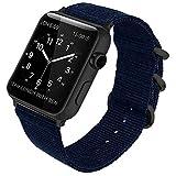 Janly Fashion Nylon Montre de Remplacement pour Apple Smart Watch série 1/2/3/4...