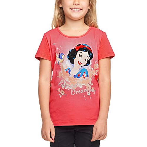 Blancanieves Disney Princesa Kids T-Shirt Cuento de Hadas Dreaming Cotton Red - 98