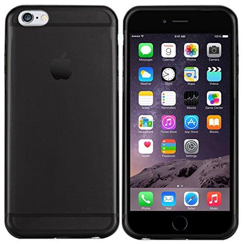 iPhone 6 Plus Hülle in Schwarz - Silikonhülle Case Schutzhülle Tasche für Apple iPhone 6 Plus (5,5 Zoll) Schwarz