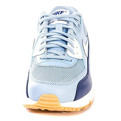 Nike Air Max 90 616730, Damen Low-Top Sneaker Gris (Bl Gry / Pr Pltnm-Lyl Bl-Smmt Wh)