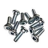D DOLITY 10 Stück Innensechskant Schrauben Bremsscheibe M8 X 20mm Roller Motorrad Quad Bremsscheibenschrauben
