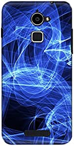 The Racoon Grip printed designer hard back mobile phone case cover for Coolpad Note 3 Lite. (blue elect)