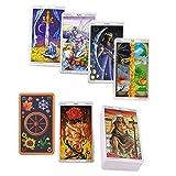 Tarot 78 Juego de Mesa,Tarot Familiars 78 Barajas Juego de Mesa,Rueda del año Leer Carta del Tarot del Destino para Uso Personal
