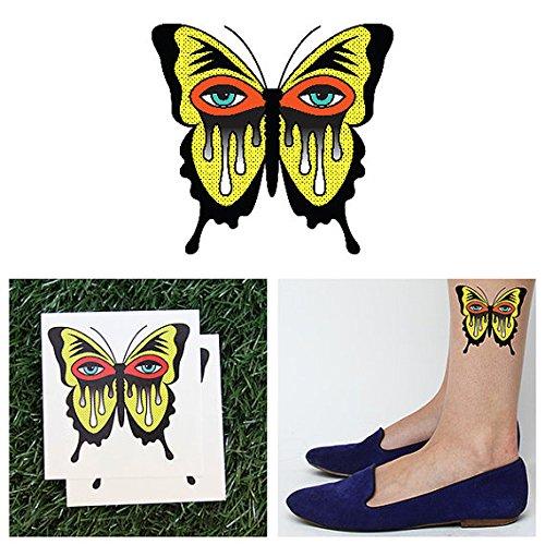 Tattify Tatouages Temporaires Papillon - Minute Papillon (Set de 2)