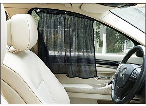 HJJH Auto - Fenster Mit Gardinen Gardinen Sonnenschirm Für Leicht Öffnen Und Schließen, Uv - Schutz, Geschützten Auto/Baby (Landschaft Beleuchtung Vision)