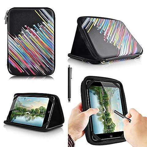 casezilla A2017,8cm Mid Apad ePad Netbook Tablet Universal EVA Hartschale Folio Tablet Fall Sternschnuppen Samsung Galaxy Tab 4 T230 7 Inch Tablet