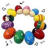Baby Kinder Holz Musical Percussion Liebenswürdige Egg Shakers Eier Maracas Spielzeug für 0-3 Jahre alte Ostereier Pädagogisches Spielzeug Musik spielen Geschenke für Kinder